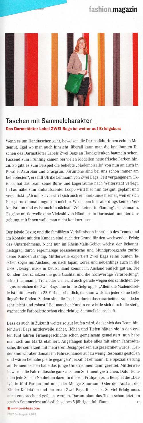 Magazin: Frizz 2013