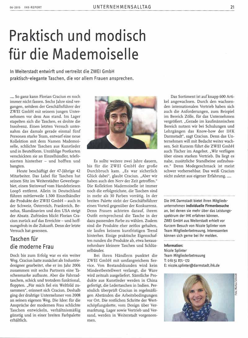 Zeitschrift: IHK-Report Juni 2015