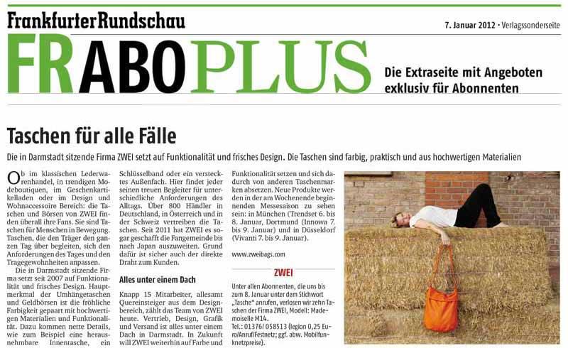 Zeitung: Frankfurter Rundschau