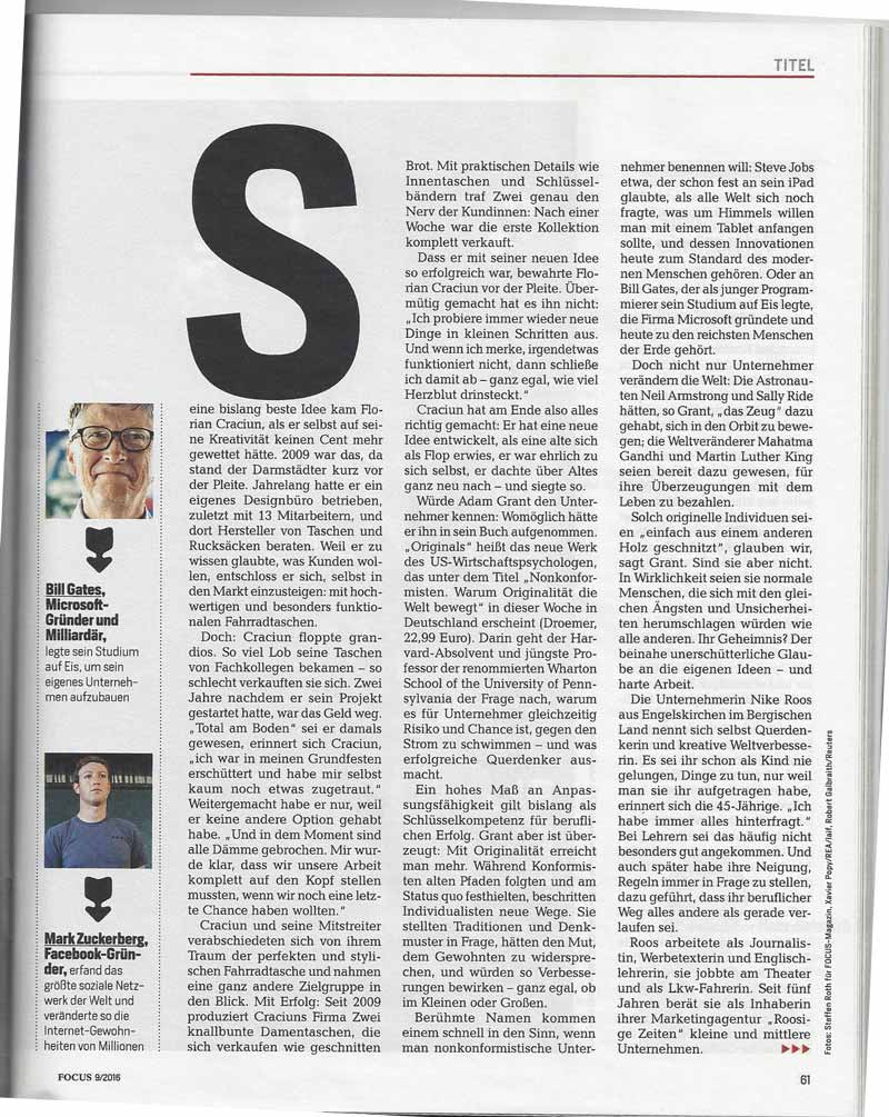 Zeitschrift - FOCUS Artikel-ff Februar 2016
