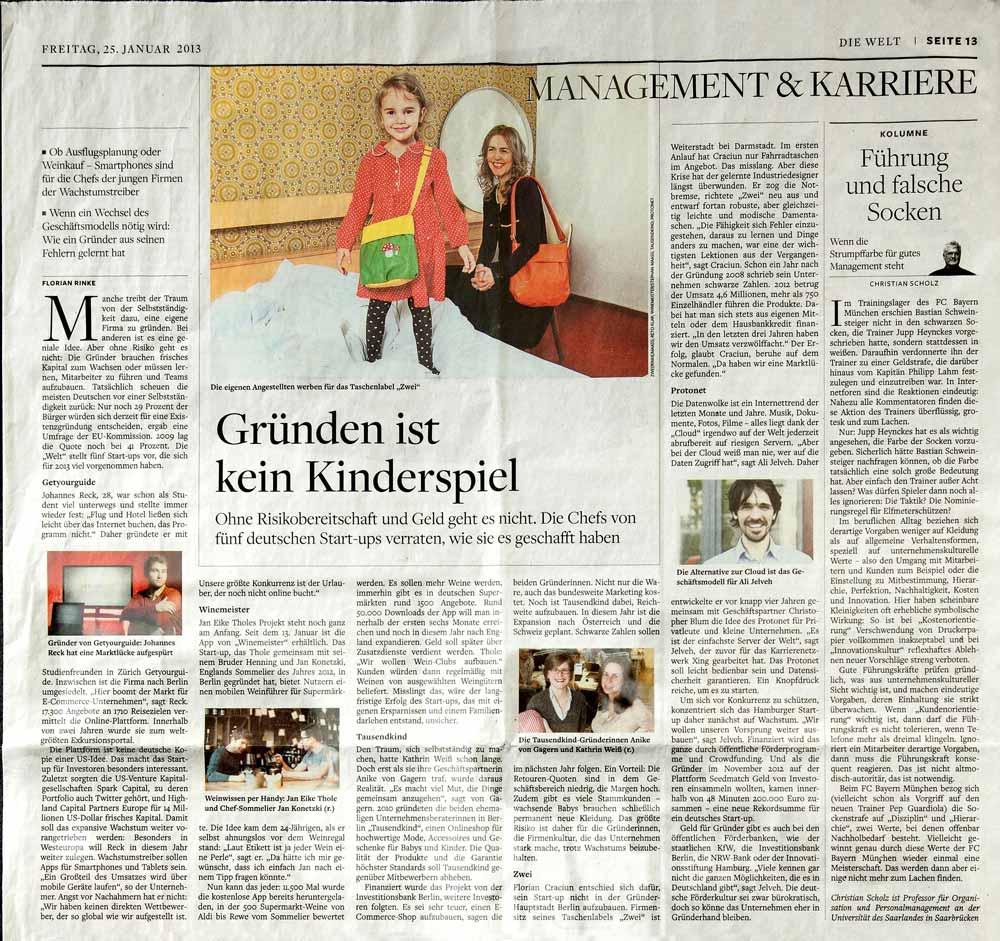 Zeitung: Die Welt 2012